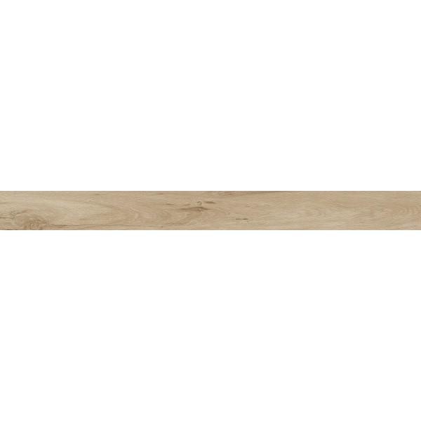 Rodapié madera porcelanica canto recto Milena Nuez 8x120cm Keramik Style