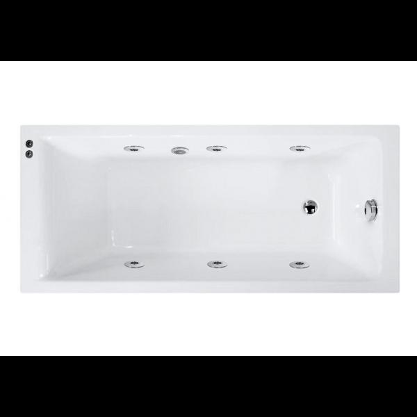 Bañera acrílica bali 160x70 cm con hidromasaje Confort