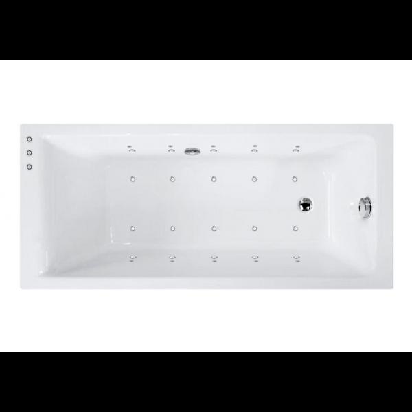 Bañera acrílica bali 160x70 cm con hidromasaje Elegance