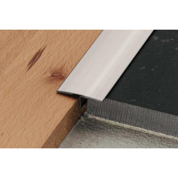 RENO-T Perfil de transición entre dos pavimentos acero inoxidable altura 12,5 mm - T9/14E