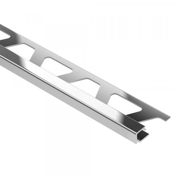 QUADEC-ACG Cantonera de aluminio anodizado cromo brillo altura 8 mm Q 80 ACG