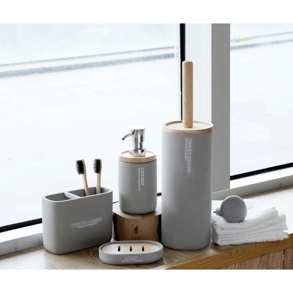 PACK accesorios de baño cemento HANG OUT B&K