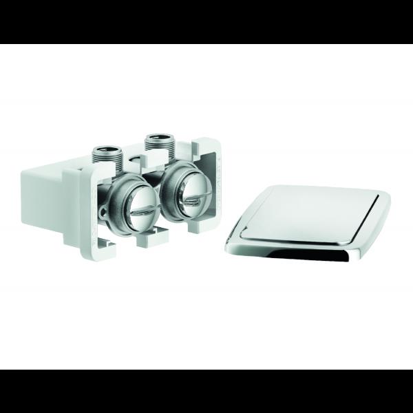 Sistema empotrado llaves baño con filtro y válvulas no retorno
