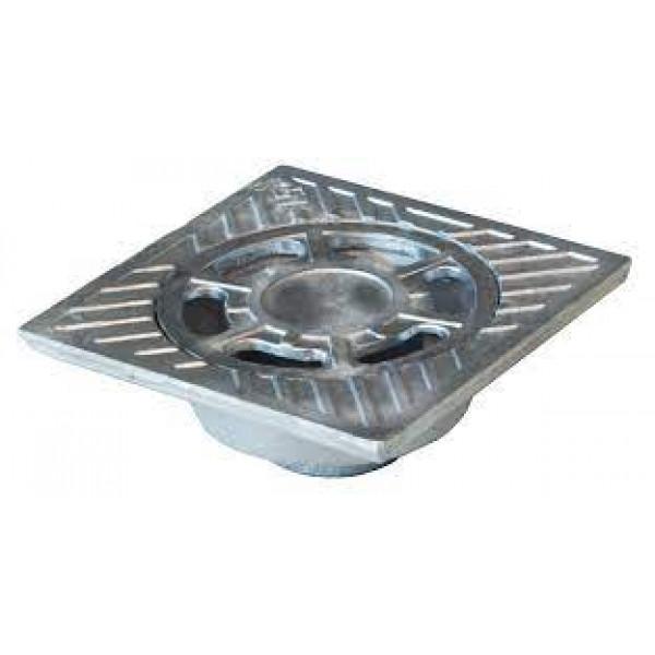 Sumidero aluminio salida vertical 10x10cm