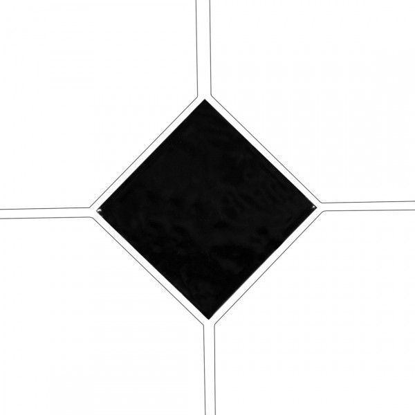 Taco OCTAGON NEGRO BRILLO 4,6x4,6 cm Equipe Cerámicas