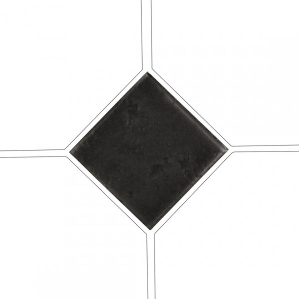 Taco OCTAGON NEGRO MATE 4,6x4,6 cm Equipe Cerámicas