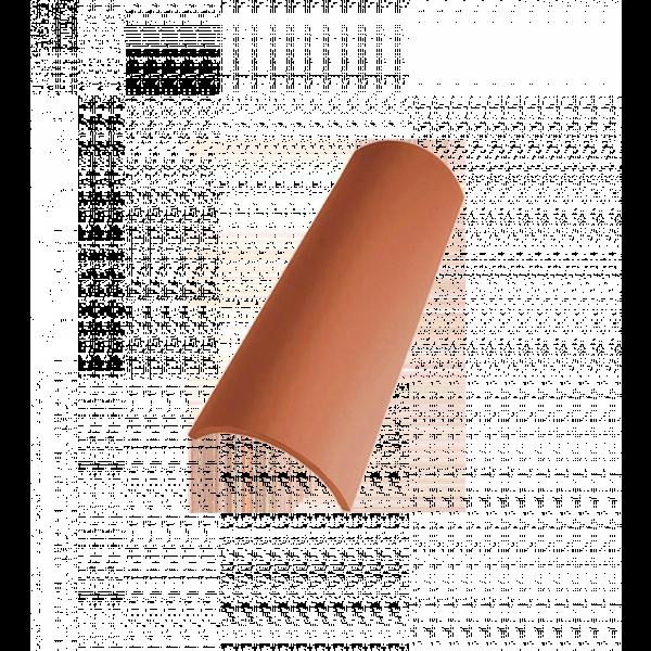 Teja curva 40x19x15cm blanca envejecida