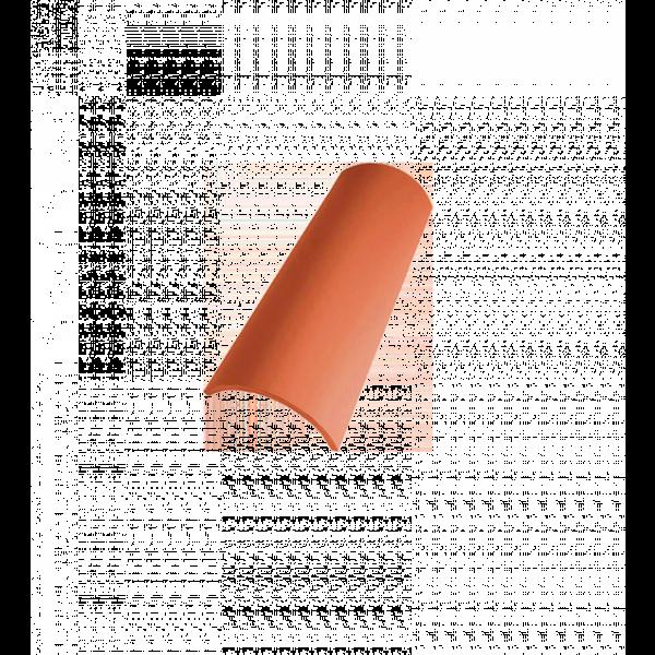 Teja curva 25x12x10cm rojo nature