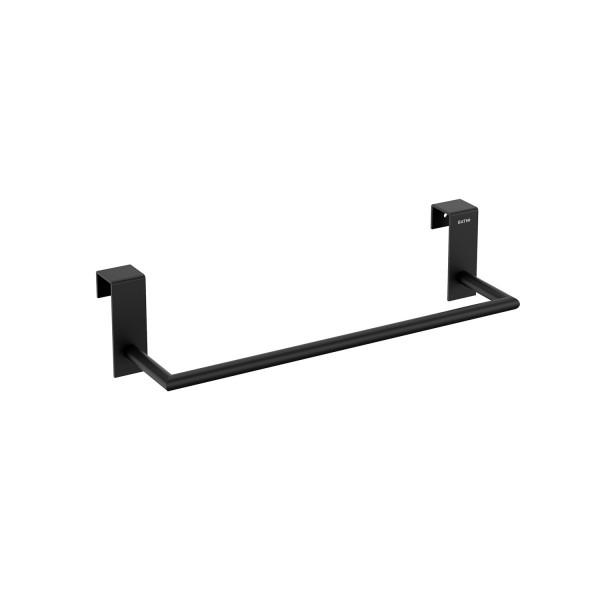 Toallero 28 cm para mueble Stick negro mate BATH+ 2763666
