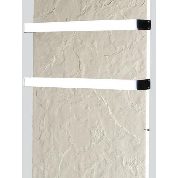 Radiador eléctrico toallero de diseño Avant wifi rectangular vertical 1300w Pizarra nieve