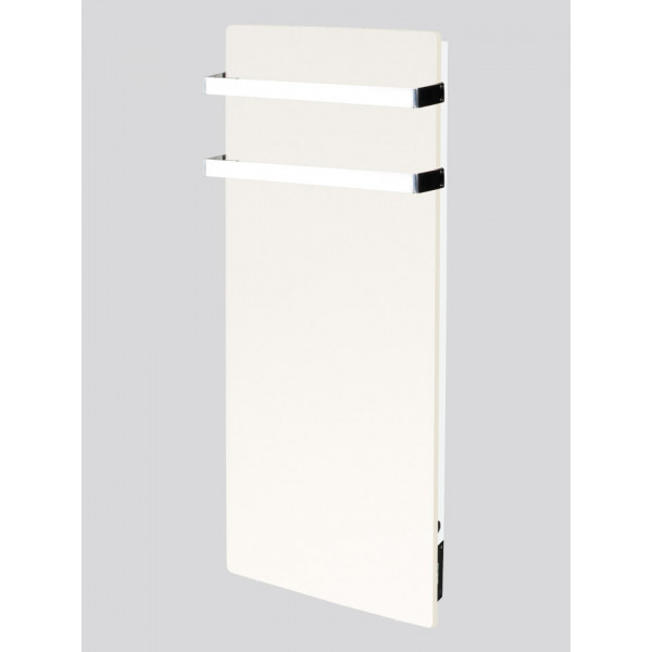 Radiador eléctrico toallero de diseño Avant wifi rectangular vertical 1300w Blanco silicio