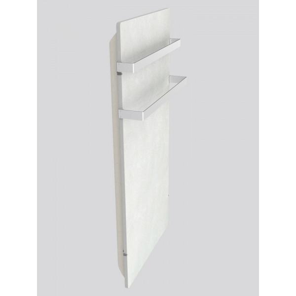 Radiador eléctrico Smart Pro rectangular con toallero 1000w Blanco silicio