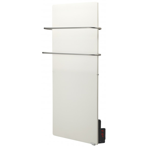 Radiador eléctrico toallero Avant Touch vertical 1300w Blanco Silicio 500x1000x95mm