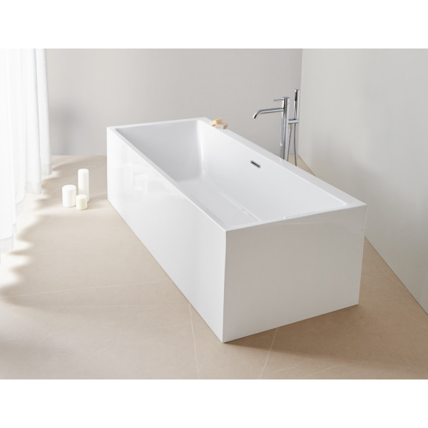 Bañera acrílica Torino cubo 180x80 cm sin hidromasaje confort