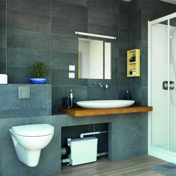 SANIPACK PRO UP Triturador para WC suspendido, lavabo, ducha y bidé SFA