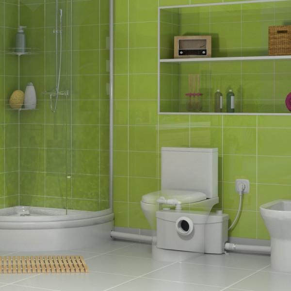 SANIPLUS Triturador para WC, lavabo, ducha y bidé SFA
