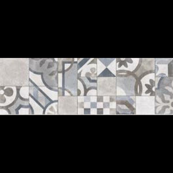 Revestimiento TUCSON DECORO CENTURY GREY 25x76cm pasta blanca Marazzi