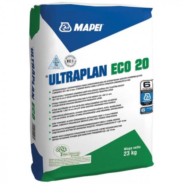 ULTRAPLAN ECO 20 Enlucido autonivelante de hidratación secado rápido en interiores 1 a 10 mm 23kg