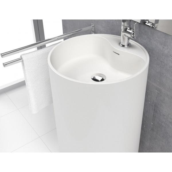 Lavabo independiente VISTABELLA 45x90 cm de solid surface blanco mate
