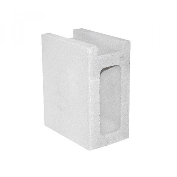 Zócalo TEBAS 12x20x25cm blanco para balaustre plano
