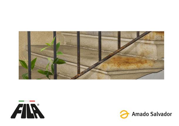 Ejemplo demostrativo del uso de filano rust detergente limpiador quita oxido para una gran variedad de superficies