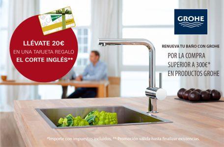 Tarjeta Regalo de 20€ por la compra de productos Grohe